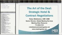 Art Of The Deal: Strategic Hotel & Contract Negotiations