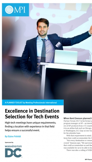 Excellence in Destination Selection for Tech Events